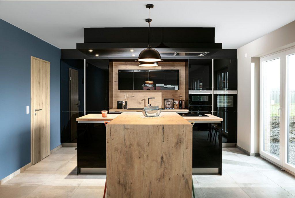 cuisine bois maison contemporaine delta constructions